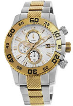 Akribos XXIV watches - men's chronograph two tone
