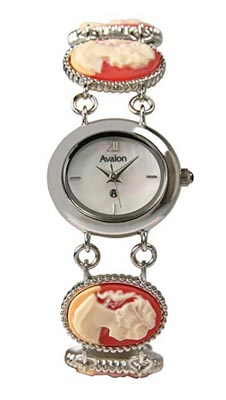 avalon watches womens silver tone