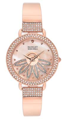 Badgley Mischka watches rose bangle