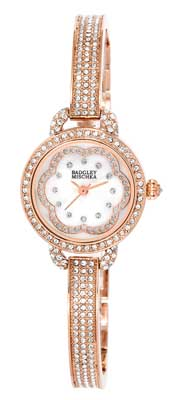 Badgley Mischka watches rose gold crystal