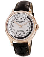 baume & mercier watches - capeland silver dial