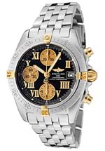 Breitling watches - men's chrono cockpit black