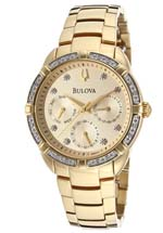 Bulova watches - women's diamond gold tone