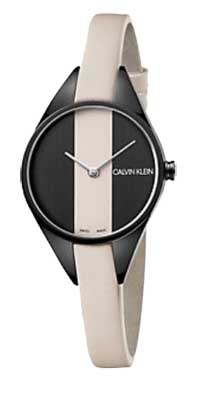 calvin klein watches rebel leather