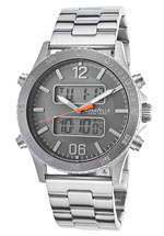 caravelle watches - men's chrono stainless
