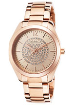 caravelle watches - women's gold tone stainless