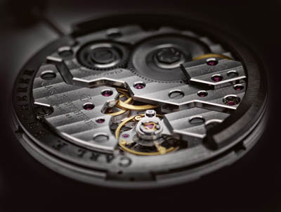 Carl F. Bucherer CFB A2000 movement with no rotor