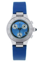 cartier watches - women's chronograph blue