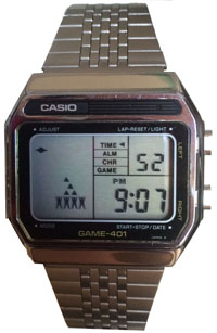 casio watches - men's lcd game model