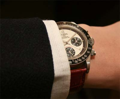 chronograph on wrist