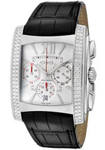 Ebel watches - men's Brasilia Chronograph white dial