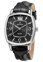 grovana watches - traditional black leather