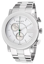 gucci watches - mens g chrono white