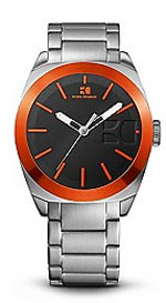 Hugo Boss watches - men's stainless steel orange