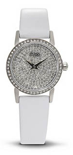 Hugo Boss watches - women's leather strap Swarovski