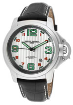 Jorg Gray watches men's silver tone green markers