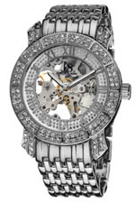 Joshua & Sons watches - skeletal silver