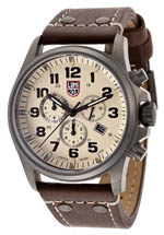 Luminox watches - men's chronograph beige