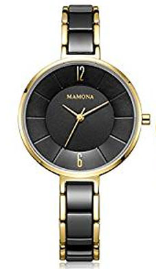 mamona watches ladies black