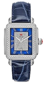 michele watches - deco diamond blue pave