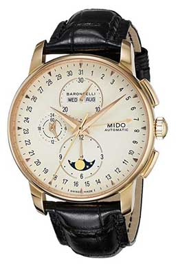 mido watches baroncelli moonphase