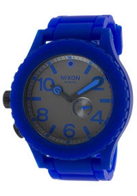 nixon watches - mens rubber blue