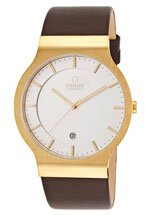 Obaku watches - gold leather strap