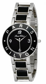 paris hilton watches - logo black