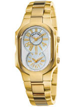 Philip Stein watches - women's silver dial yellow gold bracelet