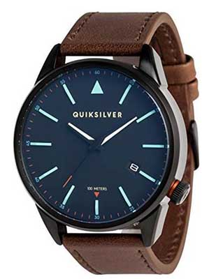 quiksilver watches timebox leather