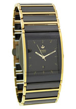 rado watches - men's black dial ceramic