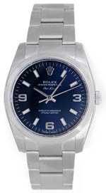Rolex Air King - stainless blue dial