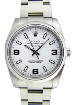 Rolex Air King - Steel White Arabic