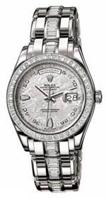 Rolex Day Date - women's platinum baguette