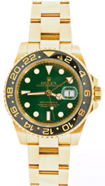 Rolex GMT Master II 18k green