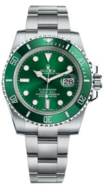 rent a designer watch - Rolex Submariner green