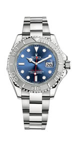 Rolex Yacht Master - Steel and Platinum Blue