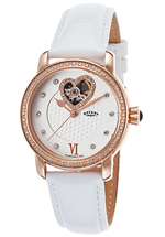 Rotary watches - women's automatic partial skeletonized