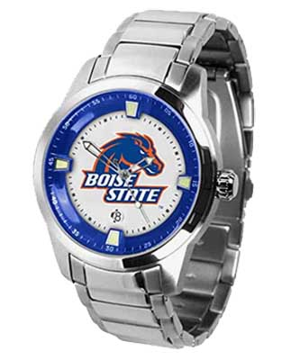 suntime watches boise state titan steel watch