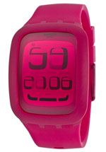 swatch watches - women's fuchsia silicone