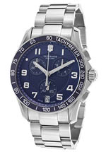 Swiss Army watches - men's chrono silver
