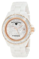 Swiss Legend watches - women's diamonds pave diamond dial white