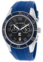 ted lapidus watches - men's chrono blue rubber