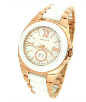 tommy hilfiger watches two tone bracelet