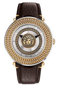 versace watches silver v metal icon