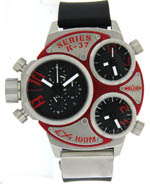 Welder watches men's red chrono
